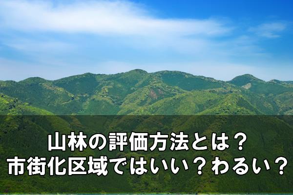 山林の評価方法とは?市街化区域ではいい?わるい?